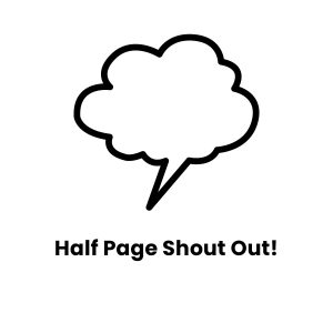Icon image for half page shout out